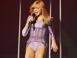 Voyeur Private : Madonnas skin tight spandex cameltoe!