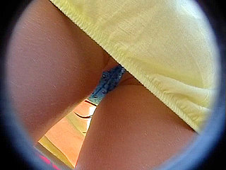 Voyeur Private : Blue panty hidden upskirt!