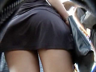 Voyeur Private : Hidden upskirt shot from behind!