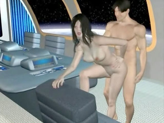 3d Porn : Captain owns hot assistant in 3D anime!