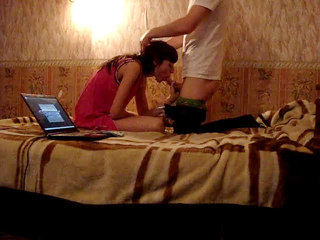 Homemade Couples : My hot brunette ex girlfriend masturbates and I bang her hard!