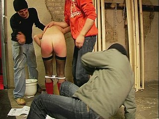 011stu Cock And Ball Whipping   Three guys enjoy spanking ass