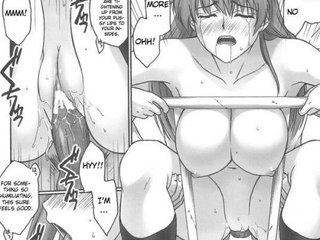 Hentai Manga : big size melon babe roughly fucked on the roof!