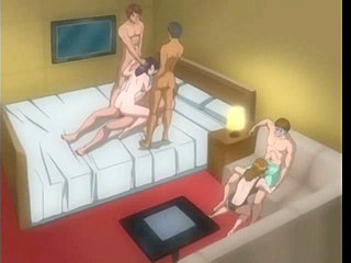 0265rsp Animated group with babe on three cocks