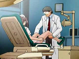 Doctor is cruelly examining nurse's pussy