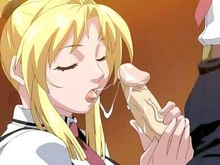 Babe sucks and fucks large rod! (Hentai Video World) : Babe sucks and fucks huge rod! (Hentai Mov World)