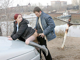 011twx Homemade Young Teen Porn   Autumn fucking in the street with a red girl
