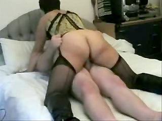 Milf sucks and rides pecker