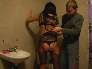 0011bfv Nylon Milf Cuckold   Cleaner willing to tear nylon
