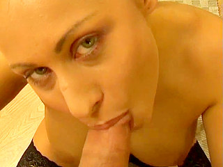 Big fat dick shoots huge load into her mouth