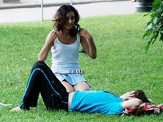 Stunning upskirt girls in a park in voyeur upskirt free photo gallery from UpskirtCollection