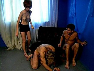 008ahk Wax punishment for two slaves